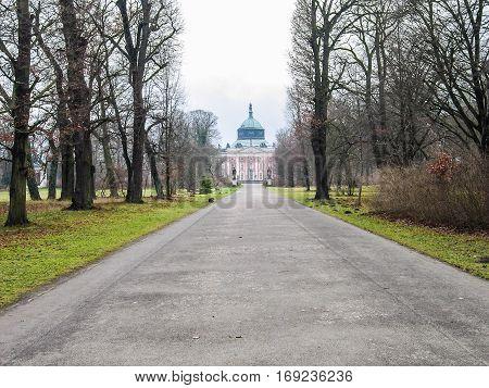 Potsdam, Germany - December 15, 2005: Sanssouci palace in winter