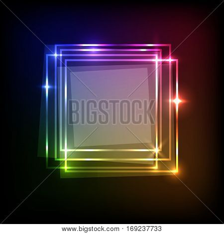 Abstract background with colorful squares banner, stock vector