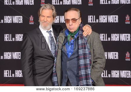 LOS ANGELES - JAN 6:  Jeff Bridges, Peter Bogdanovich at the Jeff Bridges Hand and Foot Print Ceremony at TCL Chinese Theater IMAX on January 6, 2017 in Los Angeles, CA