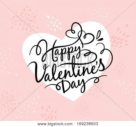 Happy Valentines Day greeting card with lettering design