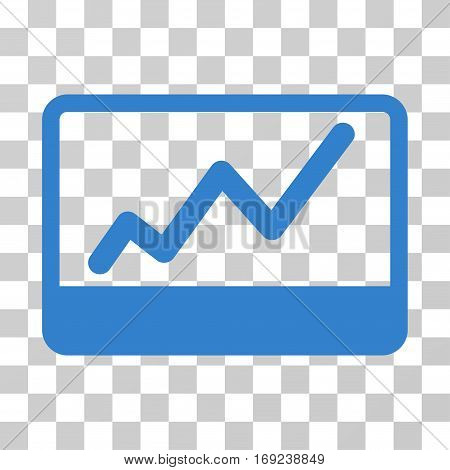 Stock Market icon. Vector illustration style is flat iconic symbol cobalt color transparent background. Designed for web and software interfaces.