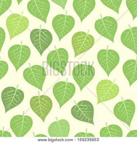Seamless pattern with leaves vector illustration. Nature design floral summer plant textile fashion tropical art. Abstract fabric colorful hawaii vintage drawing.
