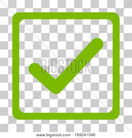Checkbox icon. Vector illustration style is flat iconic symbol eco green color transparent background. Designed for web and software interfaces.