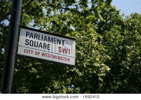 Parliament Square Street Sign