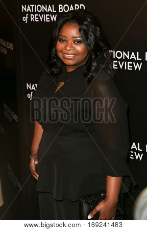 NEW YORK-JAN 4: Actress Octavia Spencer attends the National Board of Review Gala at Cipriani Wall Street in New York on January 4, 2017.