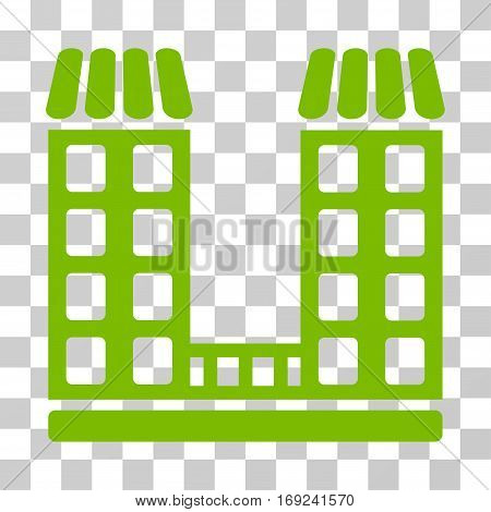 Company icon. Vector illustration style is flat iconic symbol eco green color transparent background. Designed for web and software interfaces.