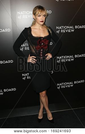 NEW YORK-JAN 4: Actress Riley Keough attends the National Board of Review Gala at Cipriani Wall Street in New York on January 4, 2017.