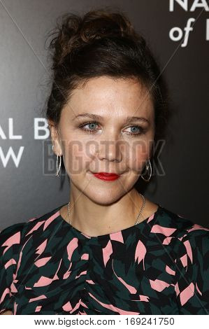 NEW YORK-JAN 4: Actress Maggie Gyllenhaal attends the National Board of Review Gala at Cipriani Wall Street in New York on January 4, 2017.