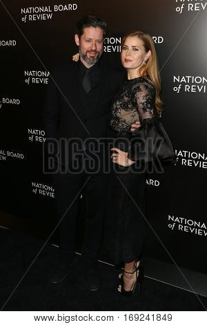 NEW YORK-JAN 4: Actress Amy Adams (R) and Darren Le Gallo attend the National Board of Review Gala at Cipriani Wall Street in New York on January 4, 2017.