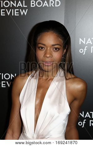 NEW YORK-JAN 4: Actress Naomie Harris attends the National Board of Review Gala at Cipriani Wall Street in New York on January 4, 2017.