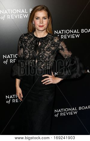 NEW YORK-JAN 4: Actress Amy Adams attends the National Board of Review Gala at Cipriani Wall Street in New York on January 4, 2017.