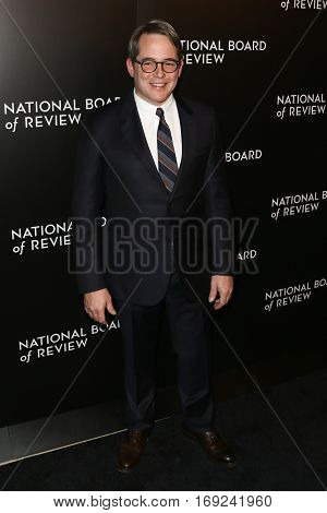 NEW YORK-JAN 4: Actor Matthew Broderick attends the National Board of Review Gala at Cipriani Wall Street in New York on January 4, 2017.