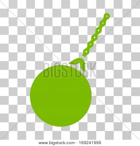 Destruction Hammer icon. Vector illustration style is flat iconic symbol eco green color transparent background. Designed for web and software interfaces.