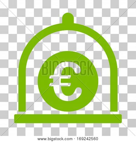 Euro Standard icon. Vector illustration style is flat iconic symbol eco green color transparent background. Designed for web and software interfaces.