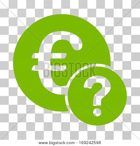 Euro Status icon. Vector illustration style is flat iconic symbol eco green color transparent background. Designed for web and software interfaces.
