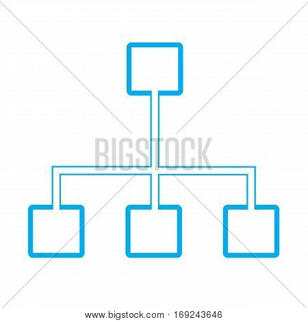 hierarchy icon on white background. hierarchy sign.