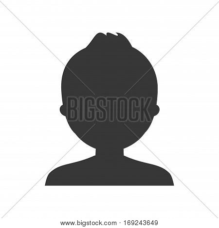 profile casual man formal face icon, vector illustration