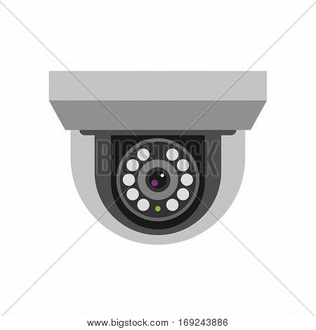 Security camera privacy protection system equipment. Surveillance safety home protection system technology vector illustration.