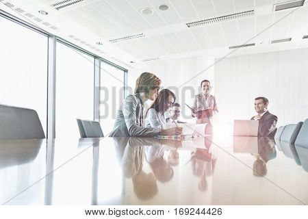 Business people in a typical office scenario