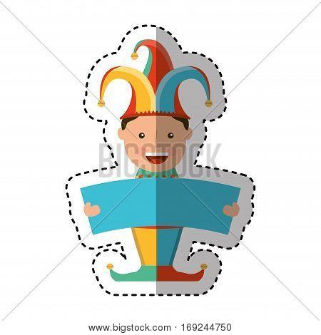 funny harlequin avatar character vector illustration design