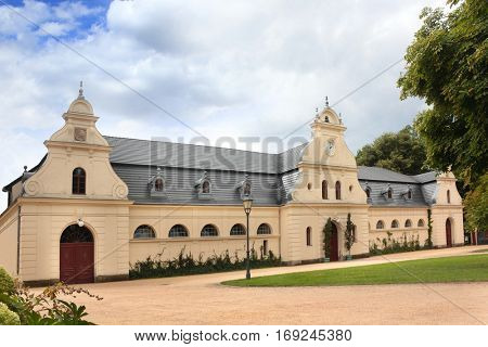 Grange buildings in Bad Muskau Park, Germany