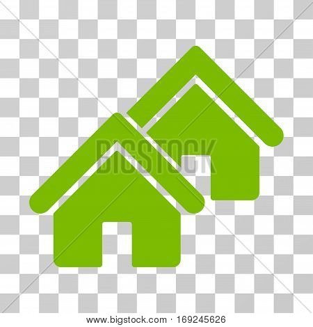 Realty icon. Vector illustration style is flat iconic symbol eco green color transparent background. Designed for web and software interfaces.