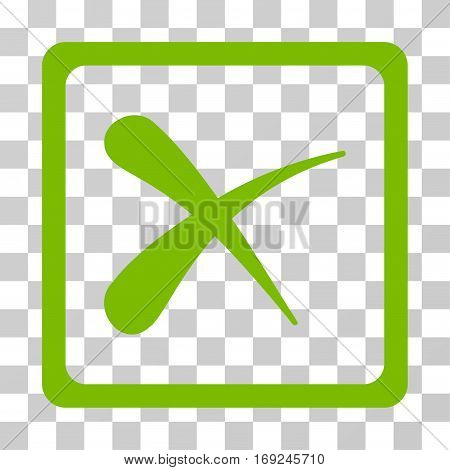 Reject icon. Vector illustration style is flat iconic symbol eco green color transparent background. Designed for web and software interfaces.