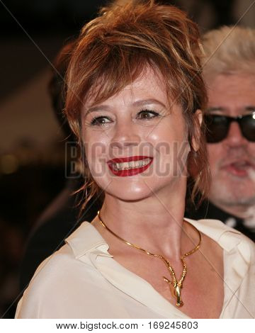 Emma Suarez attends the screening of 'Julieta' at the 69th Cannes Festival at Palais on May 17, 2016 in Cannes, France.