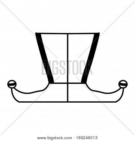 harlequin feet isolated icon vector illustration design