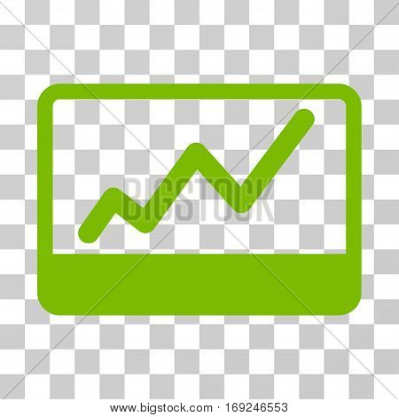 Stock Market icon. Vector illustration style is flat iconic symbol eco green color transparent background. Designed for web and software interfaces.