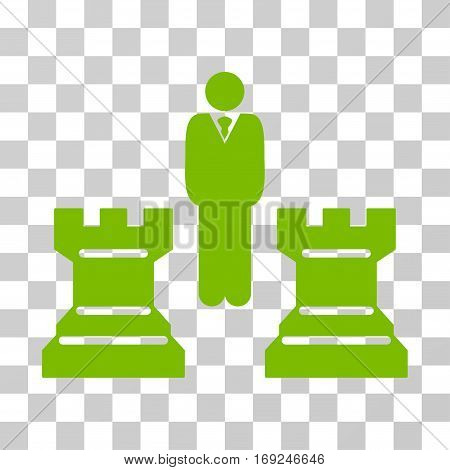 Strategy Chess Towers icon. Vector illustration style is flat iconic symbol eco green color transparent background. Designed for web and software interfaces.