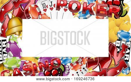 Casino background with gambling symbols