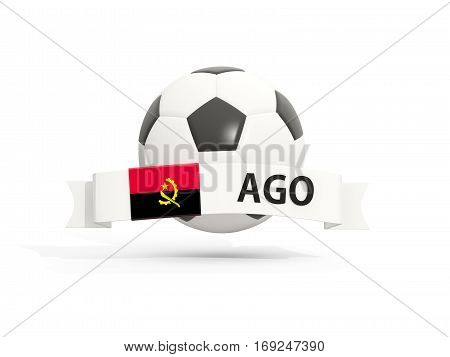 Flag Of Angola, Football With Banner And Country Code