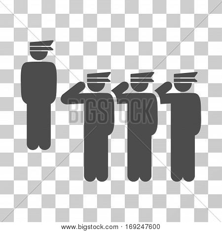 Army icon. Vector illustration style is flat iconic symbol gray color transparent background. Designed for web and software interfaces.