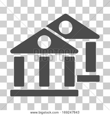 Banks icon. Vector illustration style is flat iconic symbol gray color transparent background. Designed for web and software interfaces.