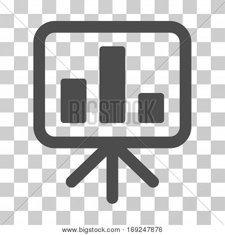 Bar Chart Display icon. Vector illustration style is flat iconic symbol gray color transparent background. Designed for web and software interfaces.