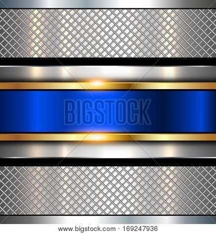 Background metallic, shiny metal texture, vector illustration.