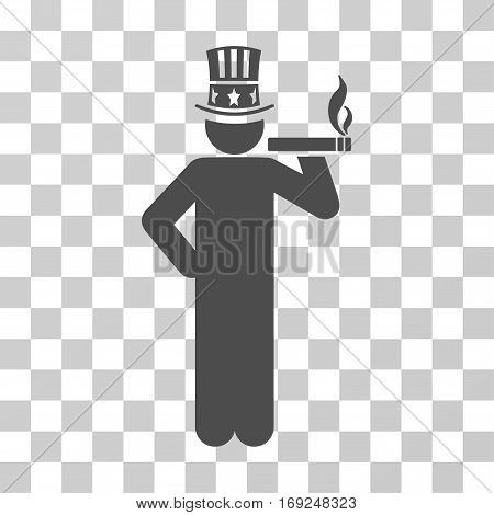 Capitalist icon. Vector illustration style is flat iconic symbol gray color transparent background. Designed for web and software interfaces.