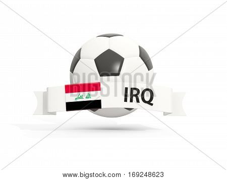 Flag Of Iraq, Football With Banner And Country Code