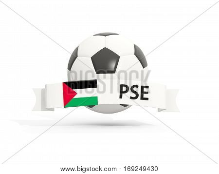 Flag Of Palestinian Territory, Football With Banner And Country Code