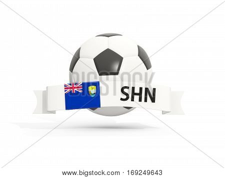 Flag Of Saint Helena, Football With Banner And Country Code
