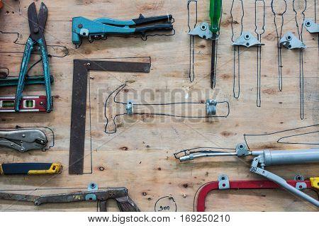 Board tool storage tool storage kit. A handmade