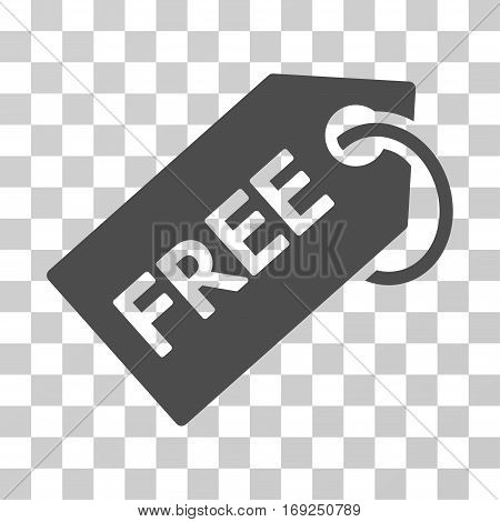 Free Tag icon. Vector illustration style is flat iconic symbol gray color transparent background. Designed for web and software interfaces.