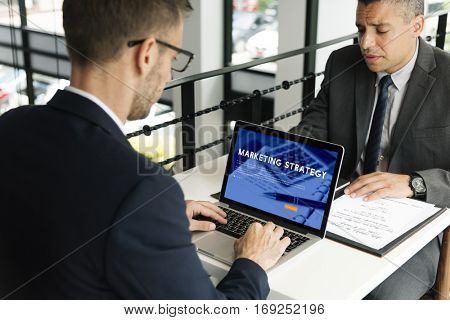 Marketing Strategy Business Analysis Concept
