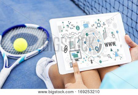 WWW Internet Online Social Media Networking Concept