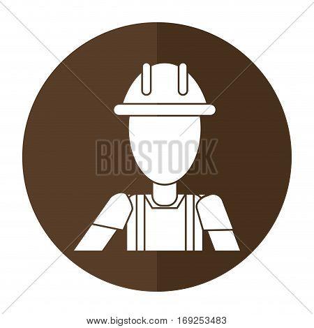 construction man helmet box shadow vector illustration eps 10