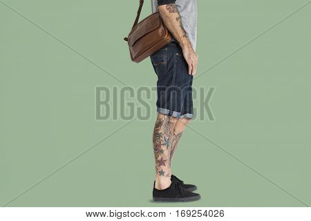 Tattooed Man Messenger Bag