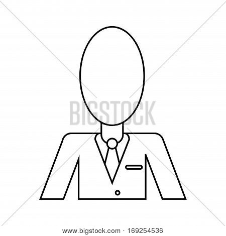 business man suit necktie thin line vector illustration eps 10