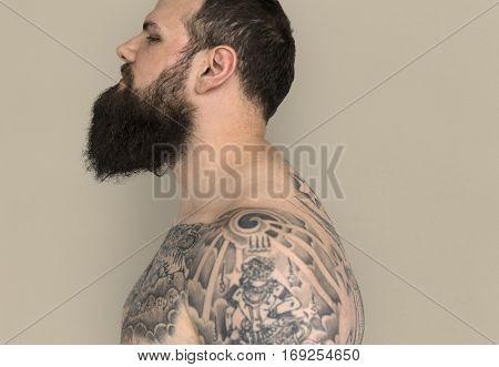 Studio People Model Shoot Caucasian Man