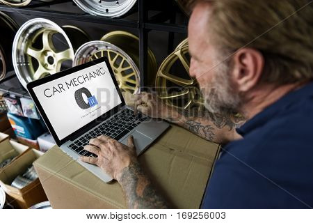 Automotive Car Mechanic Garage Service Concept